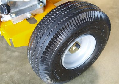 Metal hub wheels and 4 ply tyres