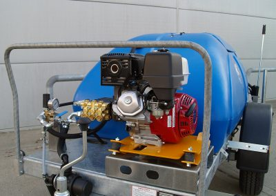 Pumps are engine mounted gearbox driven