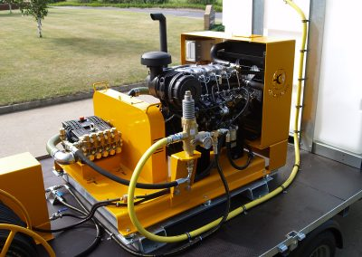 Diesel engine powered